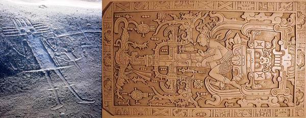 El gigante de Tarapacá y la losa del sarcófago de Pakal