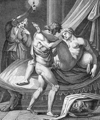Lycisca (Mesalina) prostituyéndose