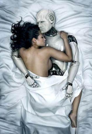 Robot y mujer