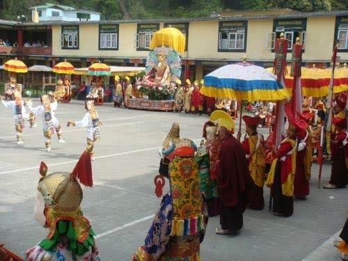 Fiesta religiosa en Bután