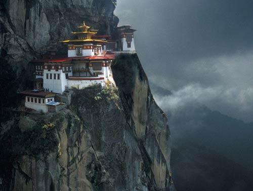 Templo budista en Bután