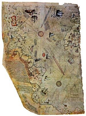 El famoso mapa de Piri Reis