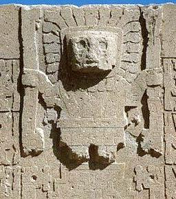 Viracocha en la Puerta del Sol en Tiahuanaco