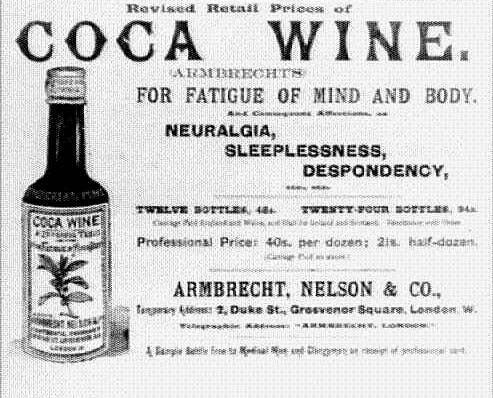 Anuncio de medicina con coca