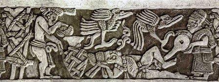 Mayas practicando enemas