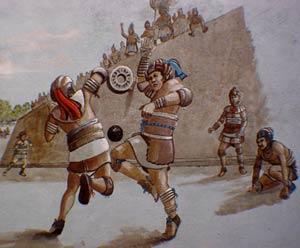 Tlachtli, juego de pelota mesoamericano