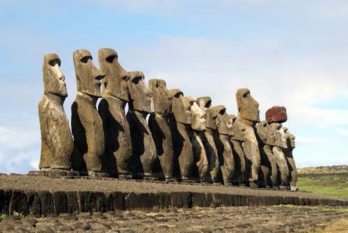 Los moai de la Isla de Pascua