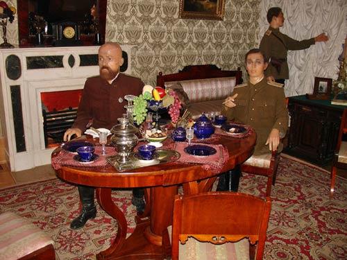 Representación de la sala de los conspiradores del asesinato de Rasputín