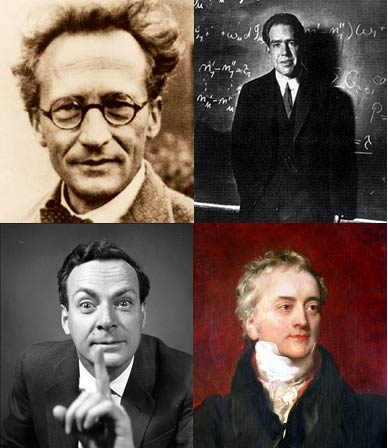 Varios protagonistas de la física cuántica