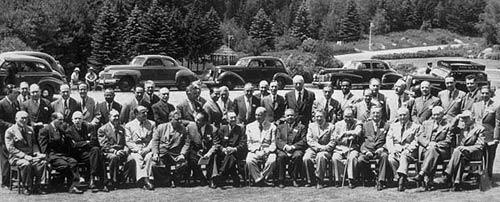 Participantes en Bretton Woods en 1944