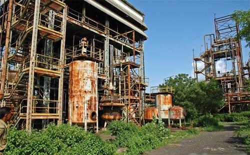 Fábrica de insecticidas de Union Carbide, en Bhopal, India