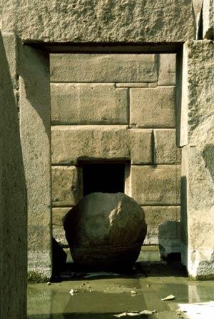 Muro de piedras de Osireion, en Abydos