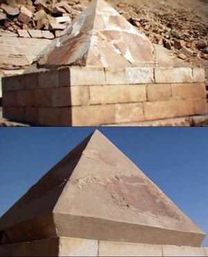 El piramidión de la Pirámide Roja