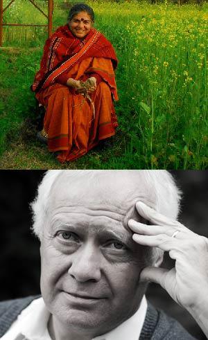 Vandana Shiva y Pat Mooney